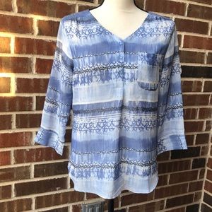 Beautiful Blue and White top Size S